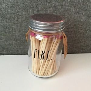 New Rae Dunn Fire Jar Matches
